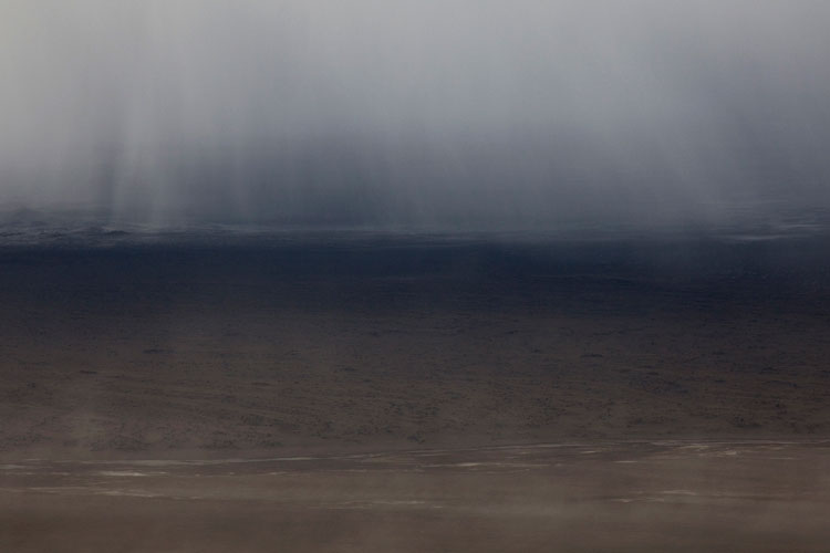 Ijsland zandstorm Askja